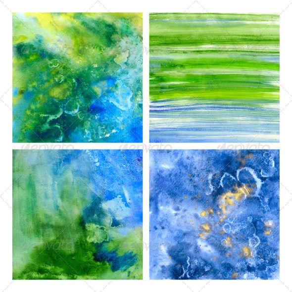 Underwater Beautiful Watercolor Ttextures (Art)