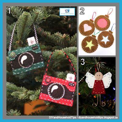 DIY And Household Tips: 3 Felt Christmas Ornament Ideas