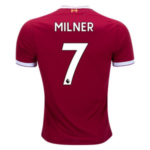 $125: New Balance James Milner Liverpool Home Jersey 17/18 (Size: XL)