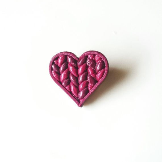Check out this item in my Etsy shop https://www.etsy.com/listing/505238001/knitted-heart-pin-valentines-gift-dark