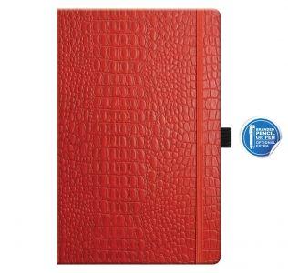 Promotional Oceania medium notebook, Castelli A5 croc pattern notebook