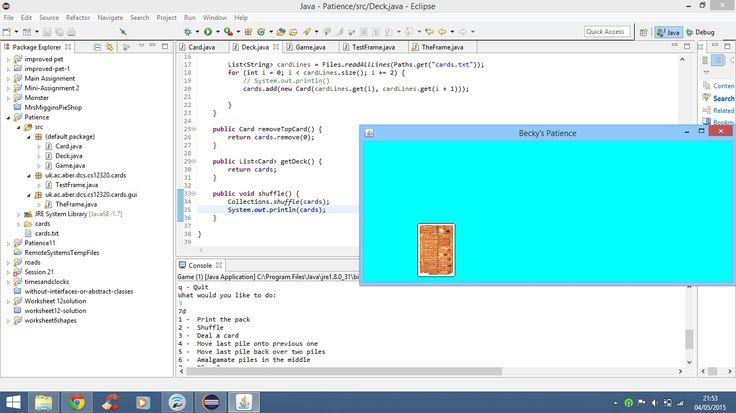 Print Deck Of Cards Java