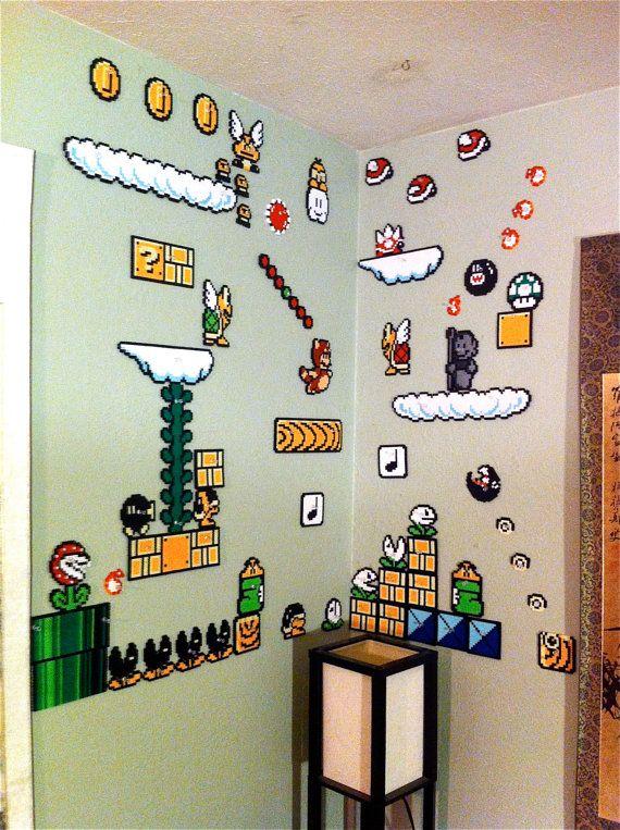 Super Mario Brothers 3 scène 5 mur par EchoBaseCrafts sur Etsy