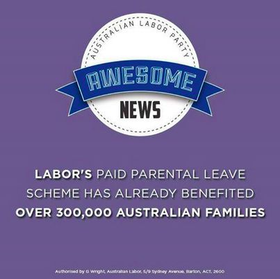 """ALP FB - """"It's Awesome News"""" - Parental Leave"""