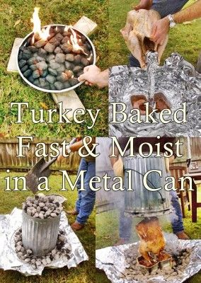 The Homestead Survival | Turkey Baked Fast and Moist in a Metal Can | Homesteading http://thehomesteadsurvival.com