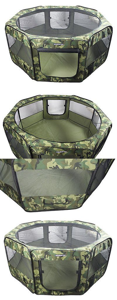 Fences and Exercise Pens 20748: 55 Portable Puppy Pet Dog Soft Tent Playpen Folding Crate Pen New - Camoflauge -> BUY IT NOW ONLY: $63.99 on eBay!