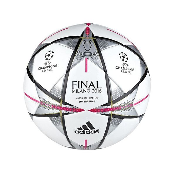 Now available at The Soccer Factory! The Adidas UEFA Champions League Final 2016 Milano Training Ball. The official match ball for the the UEFA Champions League training. Features the signature sta…