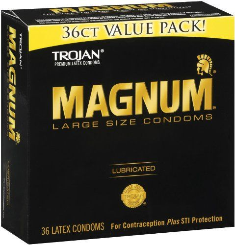Trojan Condom Magnum Lubricated, 36 Count | Multi City Health  List Price: $23.99 Discount: $9.52 Sale Price: $14.47