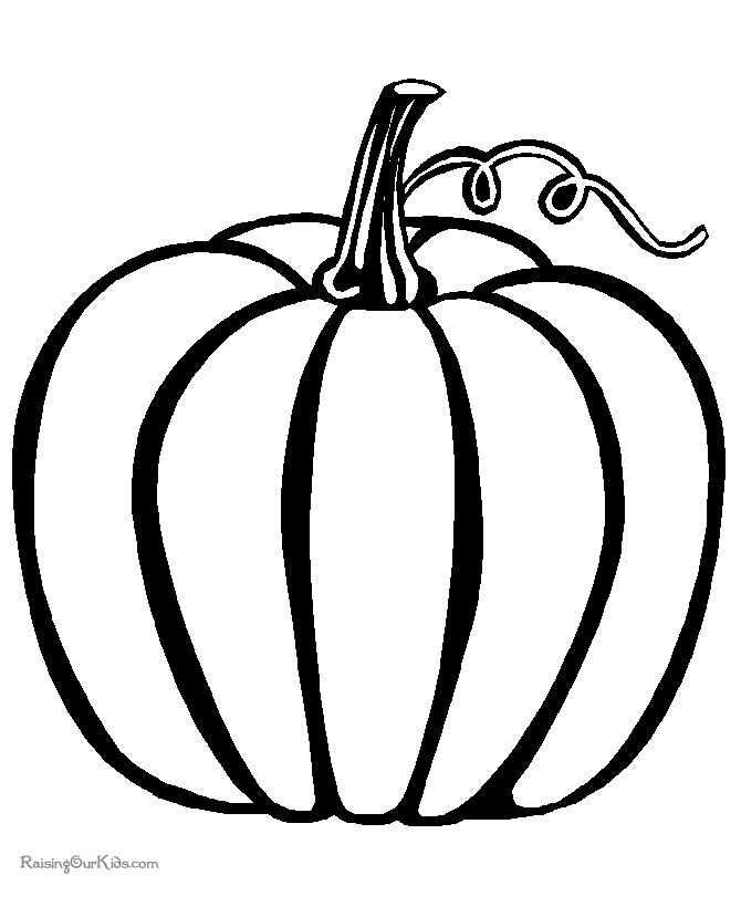 Thanksgiving Coloring Pages Pumpkin