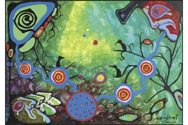 Sounding by Norval Morrisseau and Ritchie Sinclair (1979, 36