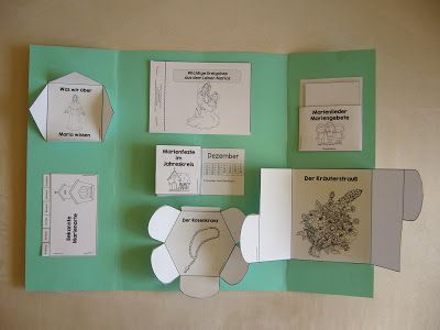 Lapbooks in der Grundschule: Religion Maria Lapbook
