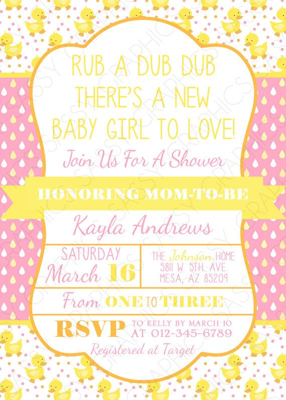 43 best images about rubber ducky baby shower on pinterest | ducks, Baby shower invitations