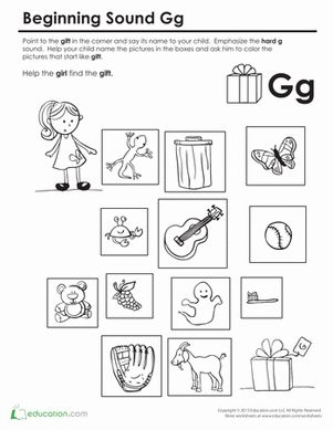 beginning sounds coloring sounds like gift language arts letter g worksheets beginning. Black Bedroom Furniture Sets. Home Design Ideas