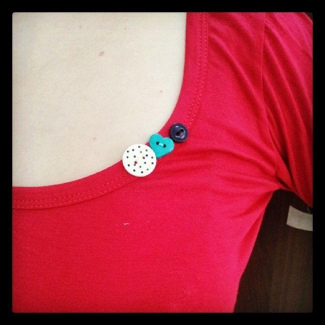 remera de mujer con botones