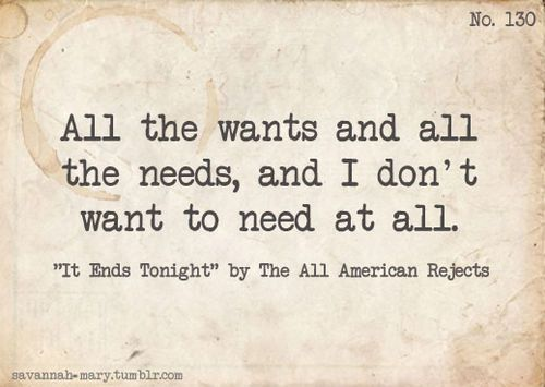 The All-American Rejects - It Ends Tonight Lyrics ...