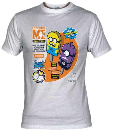 Camiseta Minion Ice Pops - Peliculas Actuales - Camisetas Cine - Fanisetas - Olipop