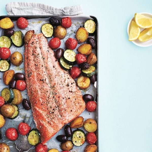 Baked to perfection, this weeknight dinner (and one-pan wonder) makes healthy eating colourful and effortless. Find more salmon recipes at Chatelaine.com