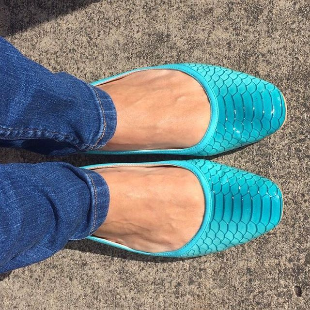 More happy feet in our Aqua flats. Thanks Liz for the great feedback and photo. #scarlettos #emergingdesigner #actuallycomfortable #happyfeet #australiandesigner #boutique #balletflats #fashion