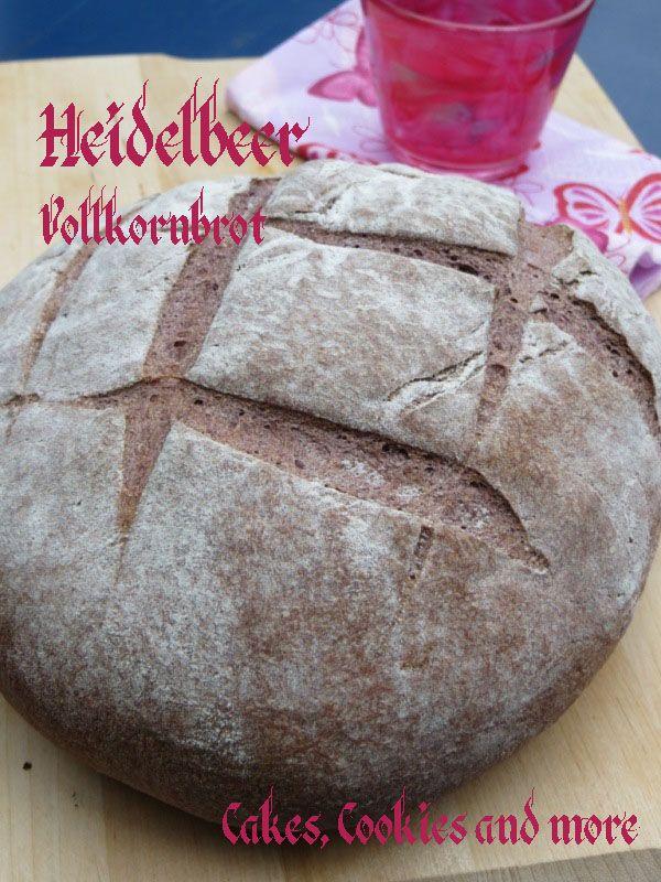 Rezept für Heidelbeer Vollkorn Brot