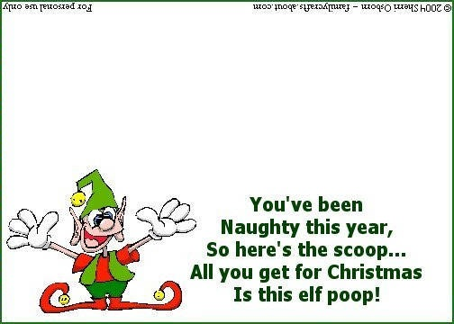 Christmas Elf Poop Poem and Bag Tag Different little poems also on ...