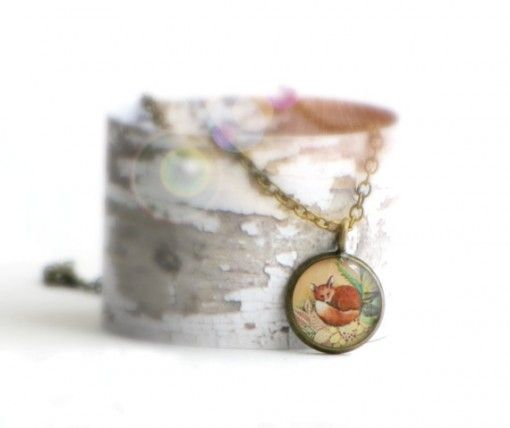 Seed and Sky original art necklace