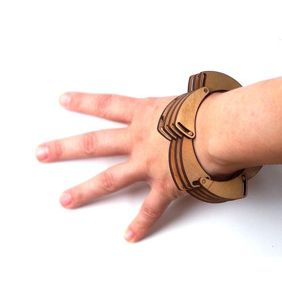Bracelet en bois - Shutter - laser cut wooden bracelet