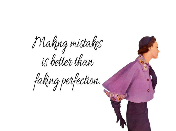 """Quirky Quotes by Vintage Jennie   """"Perfection"""""""