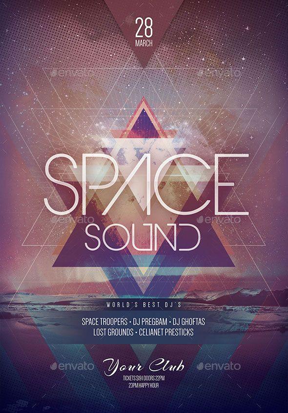 Space Sound Flyer. Flyer Design TemplatesPsd ...