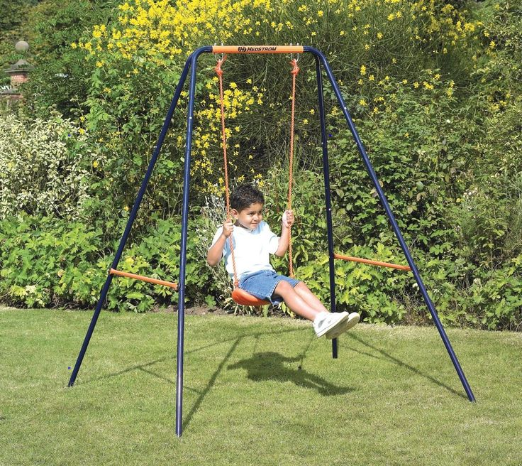 Think your backyard is too small for a swingset? We'll show you several options for small swing sets and swing sets for small children.