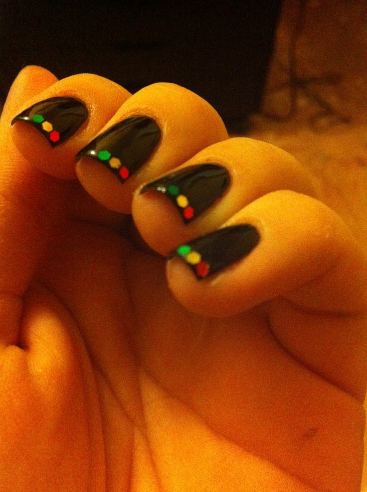 Rasta nails for Reggae Festival