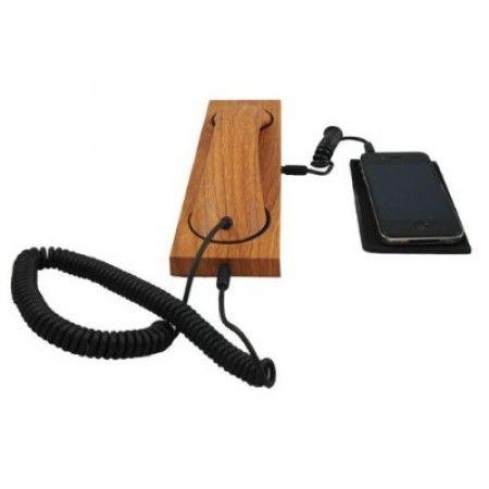 Wooden phone handset for every smartphone