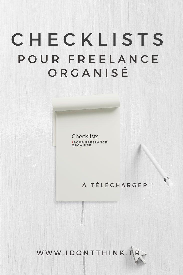 4 checklists à télécharger pour ne rien oublier dans ta vie de Freelance !