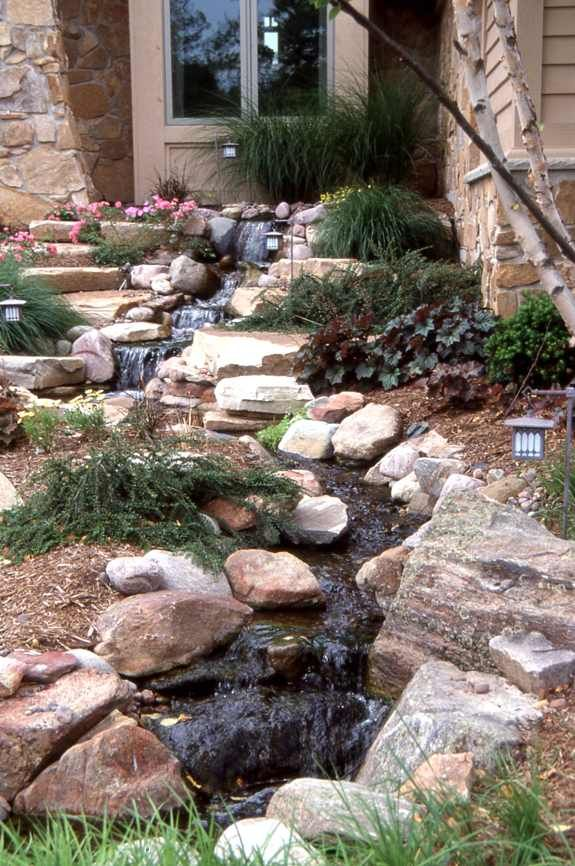 43 best images about front yard on pinterest gardens for Front yard fish pond