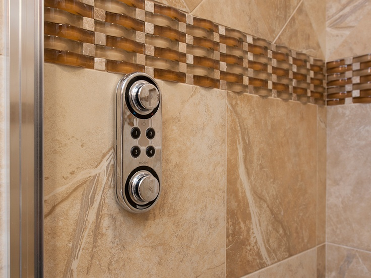 Burgin Construction   An Electronic Memory, Remote Control Shower Head From  Moen. The IoDigital