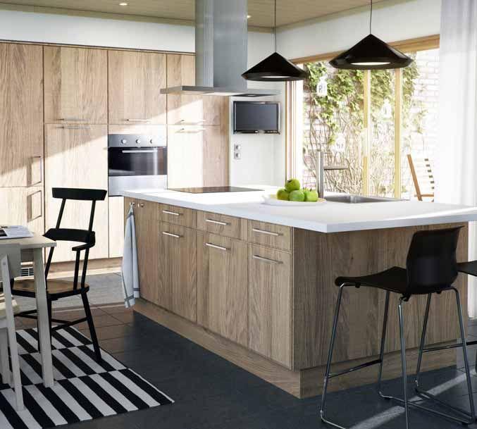Kitchen Cabinet Veneer: Norje Veneer Kitchen From Ikea