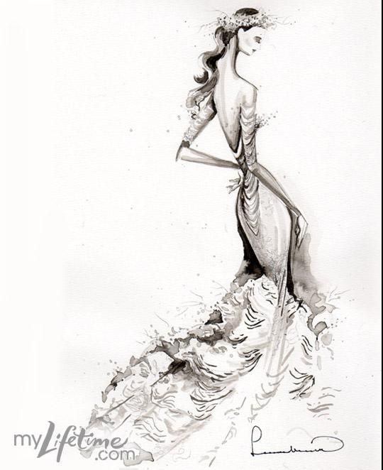 This is a gorgeous fashion design by Leanne Marshall. She is one of the many FIDM graduates, that I am deeply inspired by. FIDM teaches students how to flawlessly sketch a fashion figure, clothing and  textiles.
