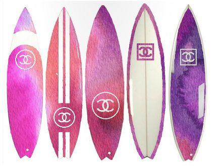 ★デザイナー アートポスター Chanel サーフボード