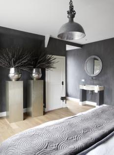 1000 idee n over donkere muren op pinterest marineblauwe muren zwarte muren en donkere - Grijze en zwarte kamer ...