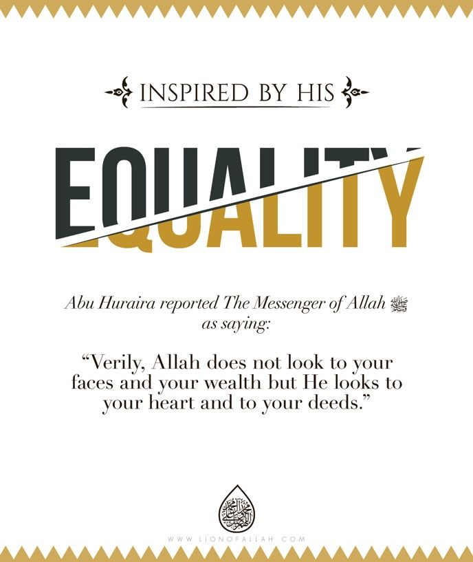Inspired by Muhammad ﷺ... Don't worry what you look like make your heart beautiful and allah will love you unimaginably more than any human could love a beautiful face...