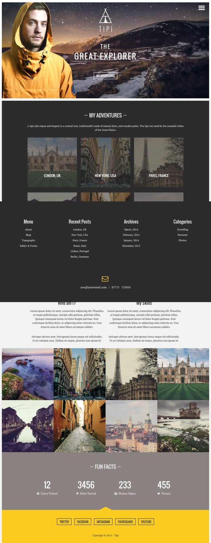 31 best html templates images on Pinterest | Design web, Design ...