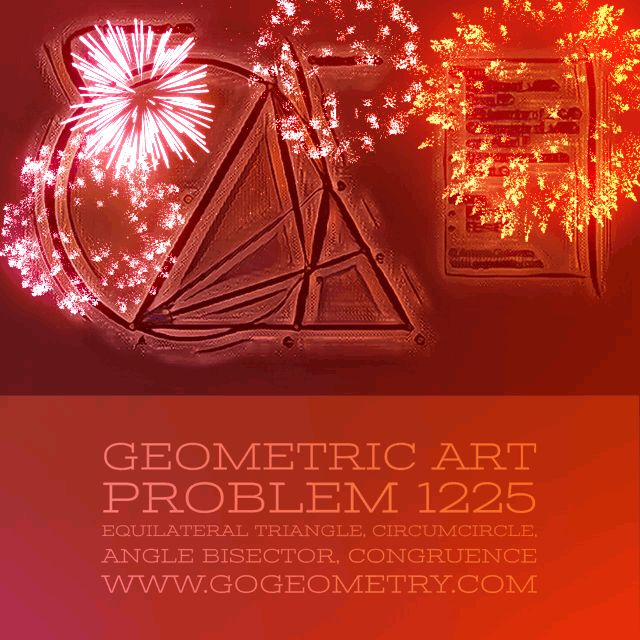 Augmented Reality (AR) of Geometry Problem 1255 using iPad Pro Apps