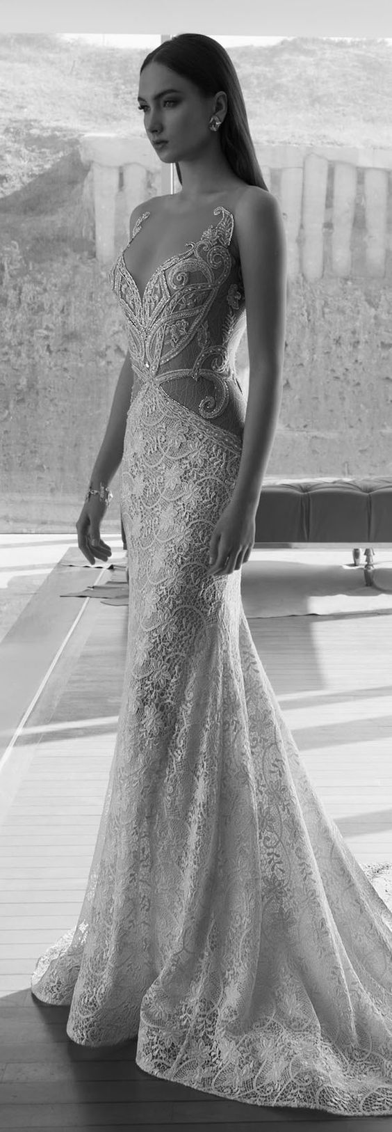 Dany Mizrachi 2016 Lace Wedding Dresses / http://www.deerpearlflowers.com/lace-wedding-dresses-and-gowns/2/