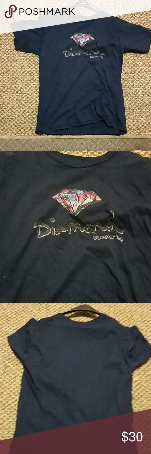 Diamond supply Company tee Navy blue new condition diamond tee Diamond Supply Co. Shirts Tees - Short Sleeve