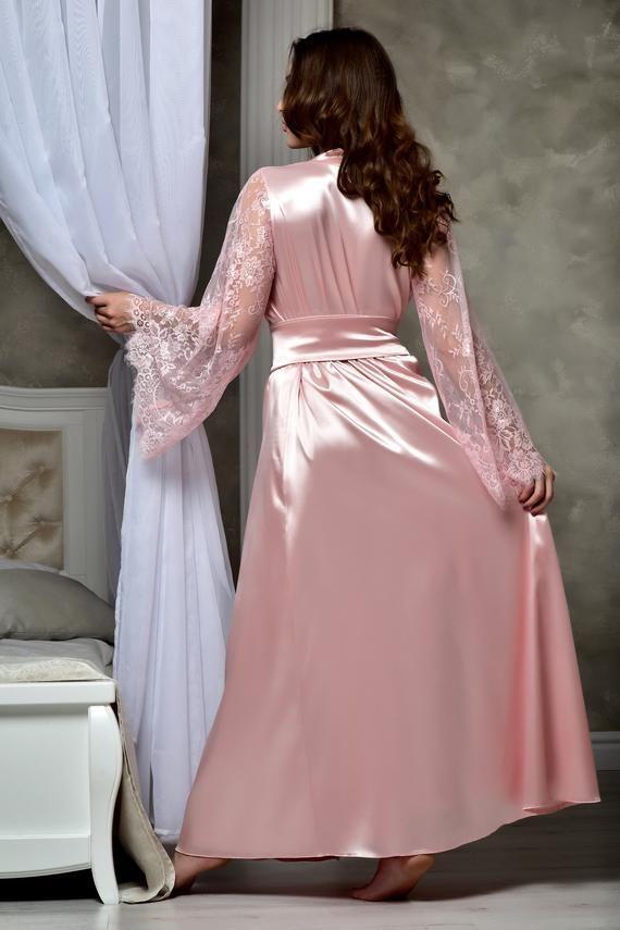 Wedding Dresses Sleepwear Kimono Bridal Robes Long Sleeve Size 2 4 6 8  10 12 14