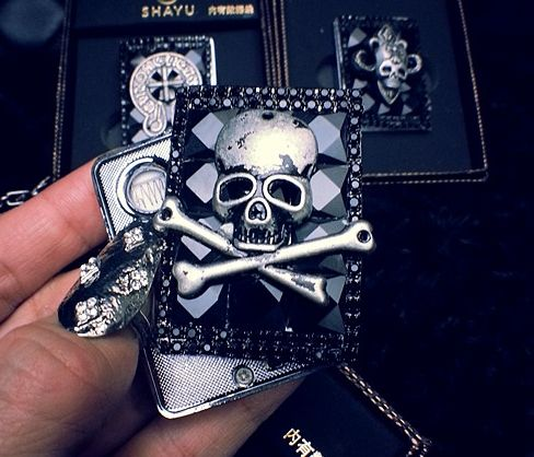 11 style  Crystal handmade retro kroo punk skull usb lighter //Price: $38.00 & FREE Shipping //     #hashtag4