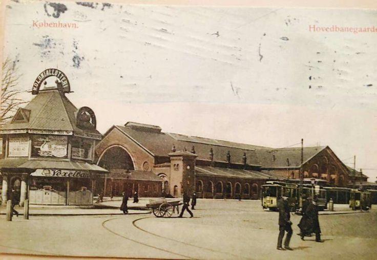 Københavns 2. Hovedbanegård på Vester Farimagsgade (nu Axeltorv) ca. 1906-1911
