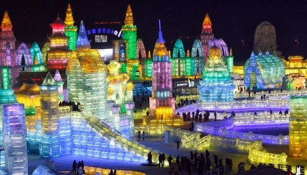 The neighborhood kids might not be, either, after they see what ice sculptors have planned for the 2014 Harbin Ice and Snow Festival.  Kicking off on January 5, this frosty wonderland in northern China features crazy sculptures made from massive ice blocks and illuminated with colorful LED lights.  Sculptors have been carving away with ice picks, chisels and lasers for the last two weeks in preparation