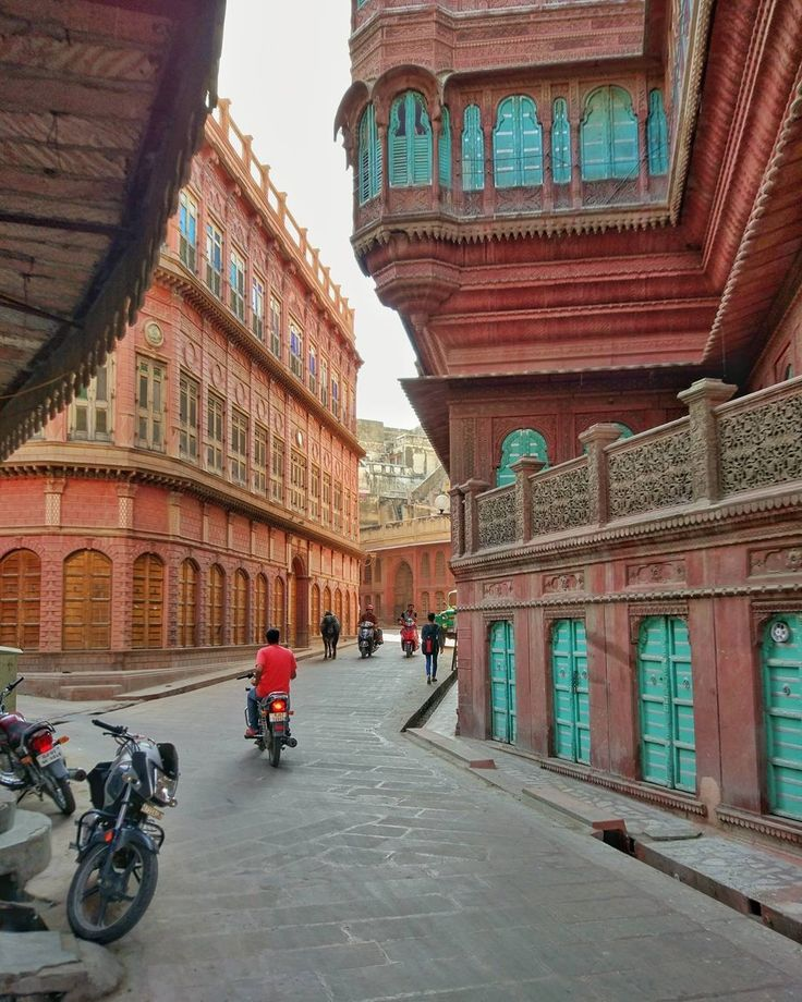 Streets Of Bikaner , India.