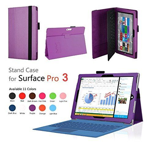 Elsse (TM) Premium Folio Case with Stand for Microsoft Surface Pro 3 (Keyboard and Tablet NOT included) (Surface Pro 3, Purple) Bear Motion http://www.amazon.com/dp/B00KAIZGB0/ref=cm_sw_r_pi_dp_Rrkfub1SZCDRD