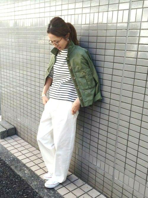 FRAMeWORKのミリタリージャケット「≪予約≫ワークショートジャケット◆」を使ったharu(Spick & Span 本社)のコーディネートです。WEARはモデル・俳優・ショップスタッフなどの着こなしをチェックできるファッションコーディネートサイトです。